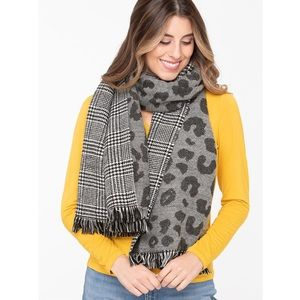 NWT Leopard/Plaid Blanket Scarf - Ricki's